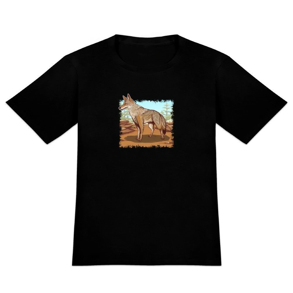 Coyote in the Wild Mens Novelty T-Shirt Men Summer Style