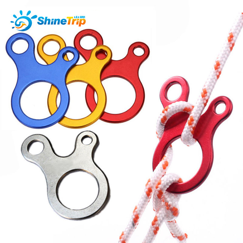 ShineTrip 4pcs Camping Tent Cord Rope Fastener Guy Line Runner Adjuster Carabiner Hook Hanger Tightener Wind Rope Stopper
