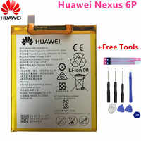 2018 New 100% Original battery HB416683ECW Rechargeable Li-ion phone battery For Huawei Nexus 6P H1511 H1512 3450mAh+Free Tools