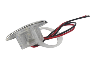 Image 2 - 1Piece White Marine Boat LED Electroplate Corridor Downstair Light for 12V Vehicles RV