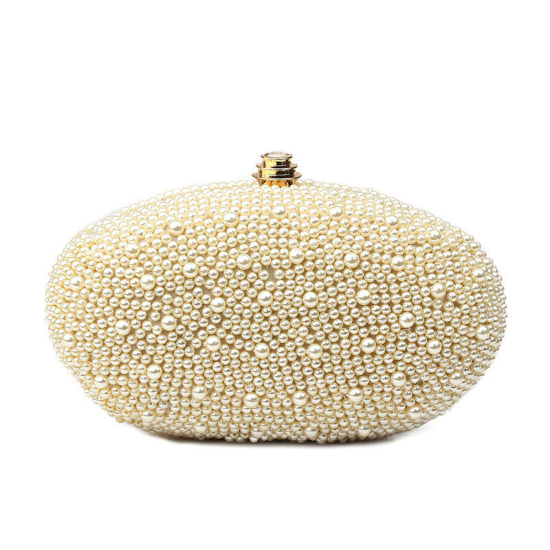 2017 Pearl Evening Bag Women Luxury Beading Day Clutch White Dinner Party Hand Bags Bridal Wedding Mini Purse Chain bolso XA59H  luxury gold silver evening purse women pink pu leather pearl hand bag chain shoulder clutch bags handbag bolso handtassen xa841h