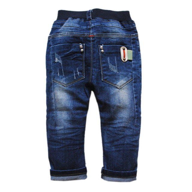3967 navy blue baby boys jeans  casual pants girls trousers spring & autumn kids & baby CHILDREN'S CLOTHING