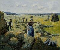Living Room Wall Art The Hay Harvest Eragny Camille Pissarro Painting on Canvas Hand Painted No Framed