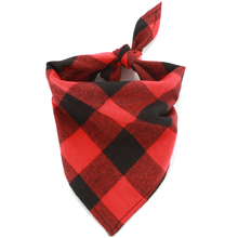 Plaid Dog Bandana Puppies Scarf Pet Bibs Grooming Accessories Flannel Triangular Bandage Products
