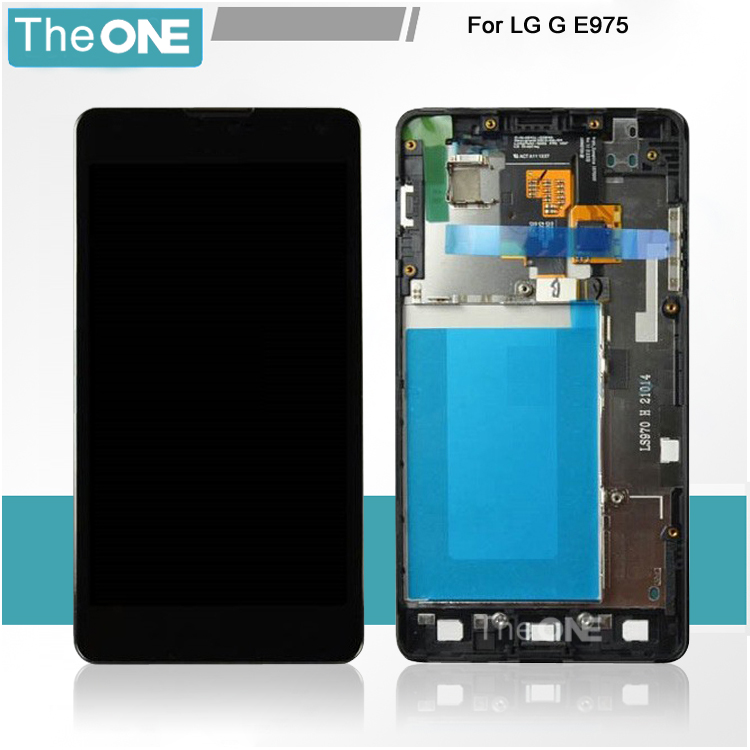 5 PCS For LG Optimus G E975 E973 Replacement Part Complete Display LCD Screen and Digitizer Assembly LCD +Frame Free Shipping