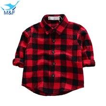 M & F Ropa de Bebé de La Manera de La Camiseta Blusa de Manga Larga Clásico Rojo tapas Para Infantil del Otoño del Muchacho Puro Algodón Recién Nacido de La Muchacha Ocasional Tees