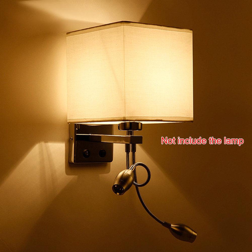 Haute qualité moderne led tissu applique applique lumière couloir chambre lampe de chevet hôtels et villa