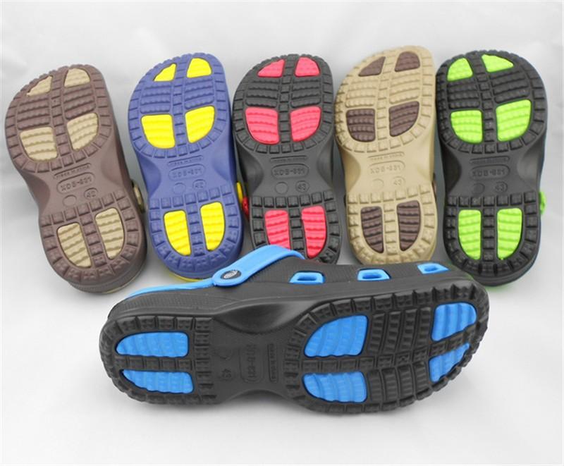 New Arrival Men Garden Shoes EVA Beach Slippers For Men Breathable Anti-slip Bottom Summer Shoes HSA20  (3)