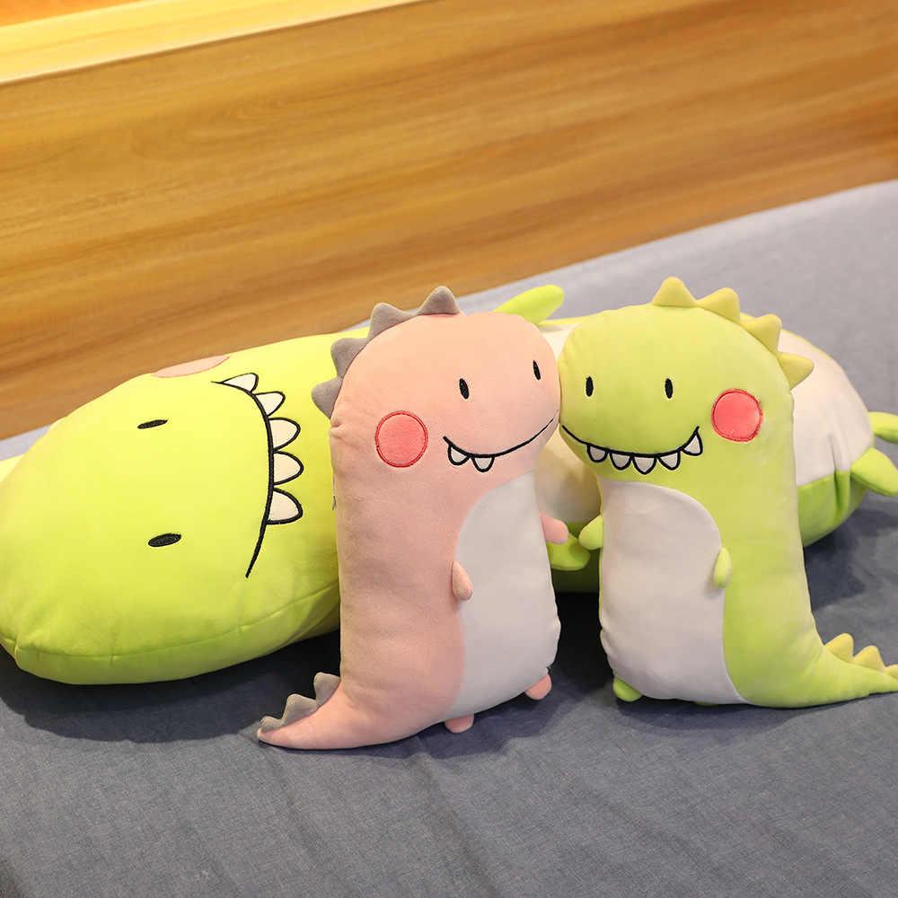 זוג חמוד דינוזאורים בפלאש צעצוע ירוק ורוד ילד ילדה עומד דינו שיניים החוצה בעלי החיים דקור כרית אבזרי זוג אוהבי מתנה