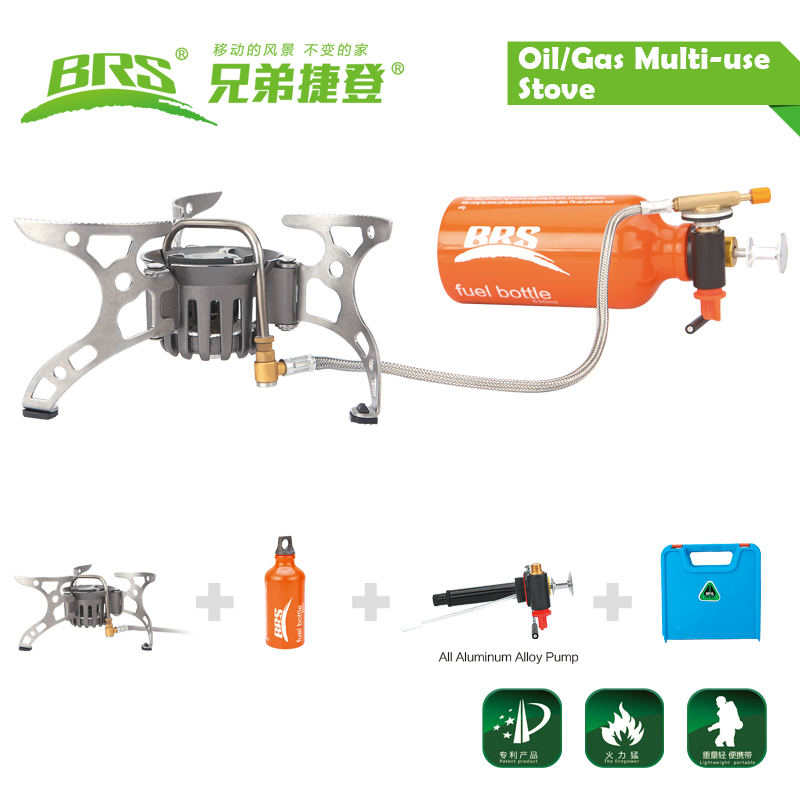 BRS gasoline diesel kerosene butane gas camping oil stove BRS-8A titan oil stove with plastic box free shipping oil gas multi use stove cooking stove camping stove brs 8a