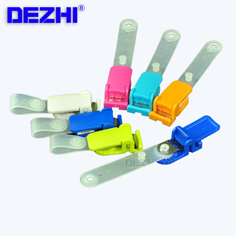 Business ID/IC Badge Card Holder ABS Clip Card Holder For Company School Clamp Badge Holder & Accessories
