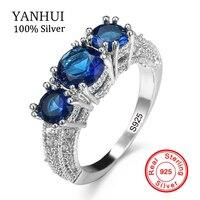 Лучшие продажи 7 цветов Аутентичные 100% 925 пробы Серебряное кольцо набор 3 шт. Природный камень Изумрудное кольцо оригинальные свадебные укра
