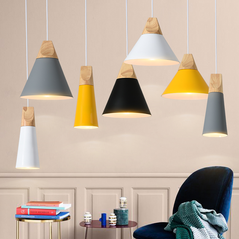 Nordic modern Pendant Lights creative personality dining room dining table bedroom bedside lamp macaron bar  LED lights E27Nordic modern Pendant Lights creative personality dining room dining table bedroom bedside lamp macaron bar  LED lights E27