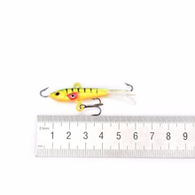 1 PCS Spoon Metal Lures Ice Fishing Lures Hard Bait Fresh Water Bas Fishing Tackle 60mm/10.5g
