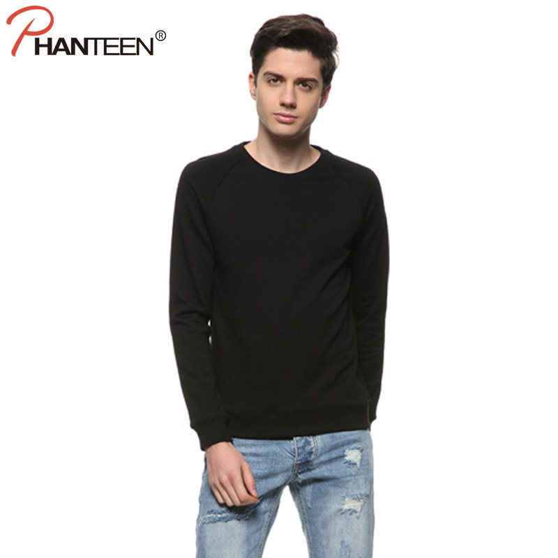 Autumn Solid Color Man Sweatshirt Long Sleeve Simple Contract Pullovers Casual Students School Hoodie Fashion Men Brand Clothing