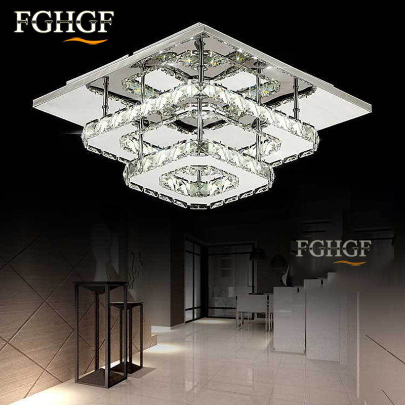 Modern Crystal LED Chandelier light Fixture For Indoor Chandelier Lamp lamparas de techo Surface Mounting Bedroom Dining Room noosion modern led ceiling lamp for bedroom room black and white color with crystal plafon techo iluminacion lustre de plafond