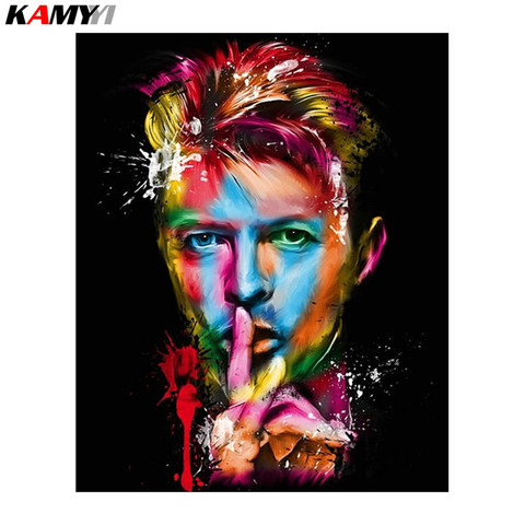 5D Diy Diamond Painting Painted David Bowie men Full Needlework Home Decoration Cross Stitch Handicraft Embroidery Mosaic Pakistan