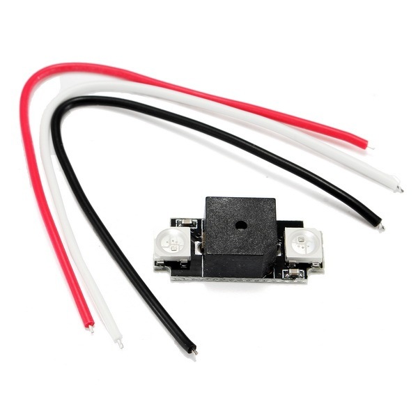 Ultra Light Colorful LED Alarm Buzzer WS2812B Programable for RC Models