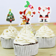 24 шт. Рождественская вечеринка Санта Клаус кекс топперы детские подарки на день рождения Свадебные украшения для рождественской вечеринки