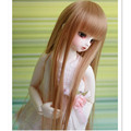 (17.5-19 cm) 1/4 BJD Wig Synthetic Doll Hair Accessories for Dolls,High Temperature Wire Long Straight Wigs for Dolls