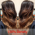 150 Density Ombre Full Lace Human Hair Wigs With Baby Hair 3 Tone Natural Wavy Brazilian Lace Front U Part Wig For Black Women