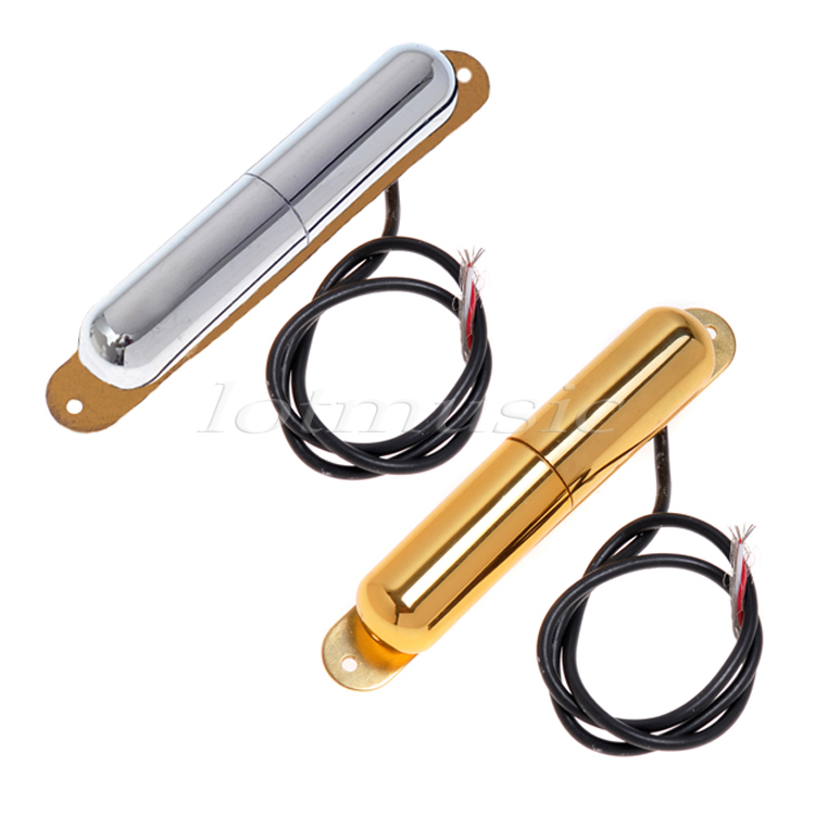 Vintage Lipstick Tube Pickups For Electric Guitar Parts Replacement Chrome and Gold Pack of 2 kmise chrome plated metal truss rod cover for electric guitar replacement pack of 50