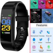 ID115 Plus OLED Screen Smart Bracelet Sports Pedometer Watch Fitness Running Walking Tracker Heart Rate Pedometer Smart Band(China)