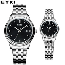 EYKI Black Couples Watch Hardlex Water Resistant Calendar Clock Men High Quality Brand Orologio Uomo Gift Box Package EET8855