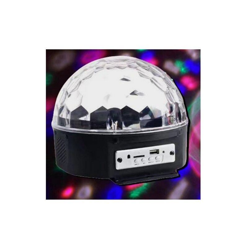 Mini LED Boule de Cristal MP3 lecteur 3 W commande vocale automatique éclairage effet pour disco ktv de mariage partie