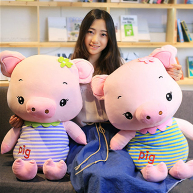 Fancytrader Big Soft Animal Pig Stuffed Doll Giant Cartoon Pig Pillow Doll Nice Lover Gifts 80cm 31inch fancytrader giant stuffed plush donkey toy big soft animal donkey pillow doll for sale nice birthday gift