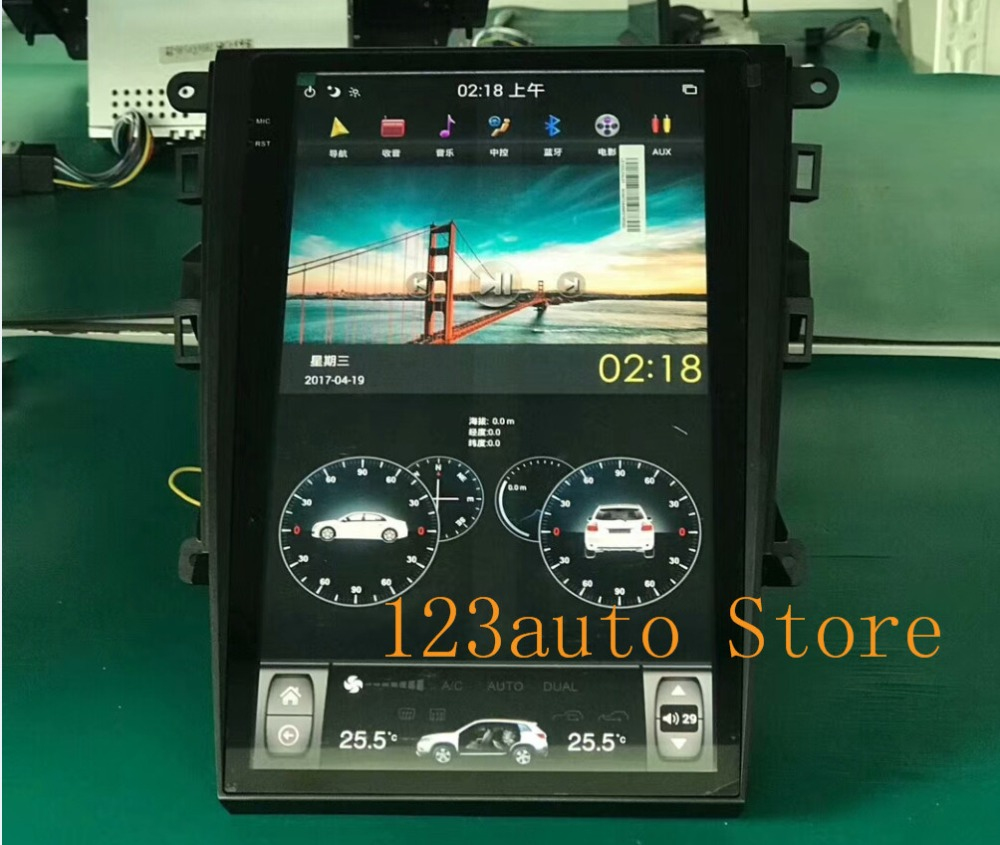 US $503 2 20% OFF|13 6 '' Vertical screen Tesla Style Android 8 1 Car DVD  GPS PX6 NAVI for Ford Mondeo Fusion MK5 2013 2014 2015 2015 2017 2018-in