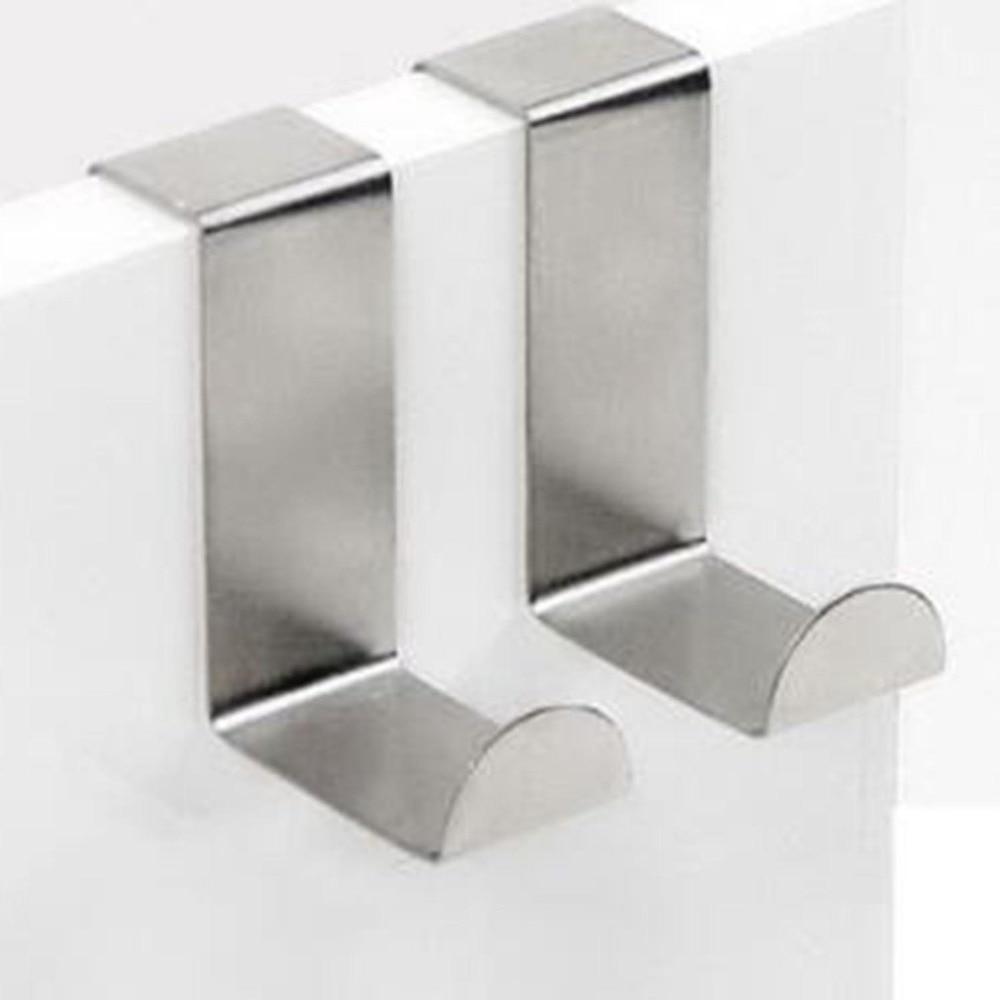 2PC Door Hook Stainless Kitchen Cabinet Clothes Hanger