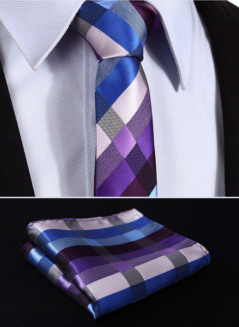 Violet Cravate /& Mouchoir de Poche
