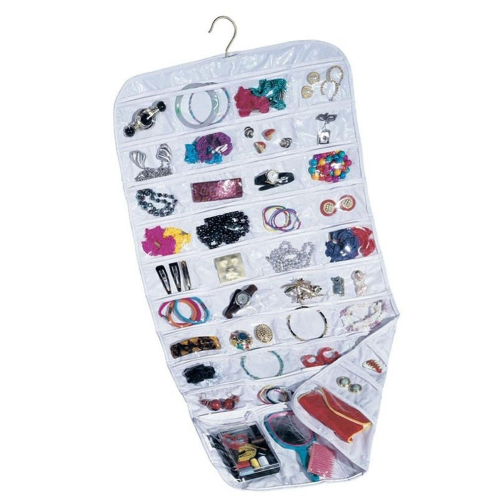 Earring Bag 80 Pockets Jewelry Hanging Storage Organizer Holder