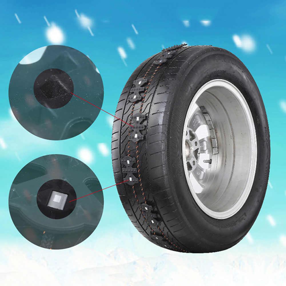 สีดำ Auto ล้อยางฉุกเฉิน Anti Skid Off - road รถ SUV Universal ฤดูหนาวหิมะ Anti - skid ยางโซ่รถอุปกรณ์เสริม