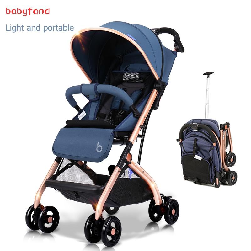 BBHAO Brand super light boarding Baby Stroller with 8 Wheels Baby Pram newborn baby car boarding directly free gifts newborn use