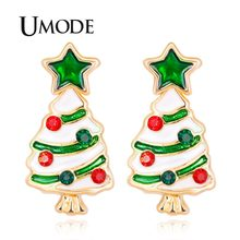 f26451fbf UMODE New Arrival Fashion High Quality Christmas Tree Stud Earrings For Women  Girls Jewelry Wholesale Winter Design UE0451