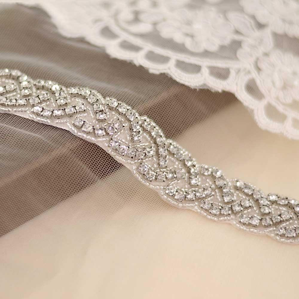 Women's Bridal Belts Sash Silver Rhinestone Wedding Dresses Belts Bridal Gowns Accessories Beading Decorations Dropshiping