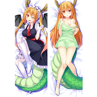 Japan Anime Pillow Case Miss Kobayashi's Dragon Maid ohru 150*50cm peach skin Hugging pillowcase