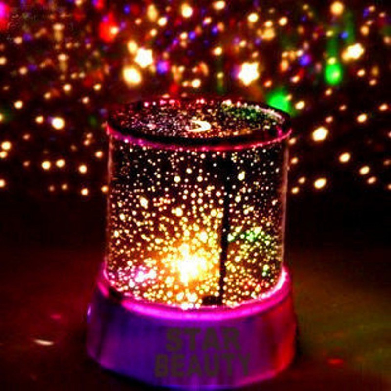 New Romantic LED Starry Sky Star Projector Lamp High Quality Night Light Projection Table Lamp for Kids Bedside Random Color home entertainment new mini stage lamp beautiful lighting projector 3w led projection lamp low price high quality ktv party lamp