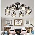 Kreative Vintage Kronleuchter Mehrere Stange Schmiedeeisen Decken Lampe E27 Birne Wohnzimmer Lamparas für Home Beleuchtung Leuchten-in Pendelleuchten aus Licht & Beleuchtung bei