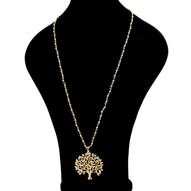 chicvie длинные ожерелья золотого цвета с деревом жизни подвески фотография