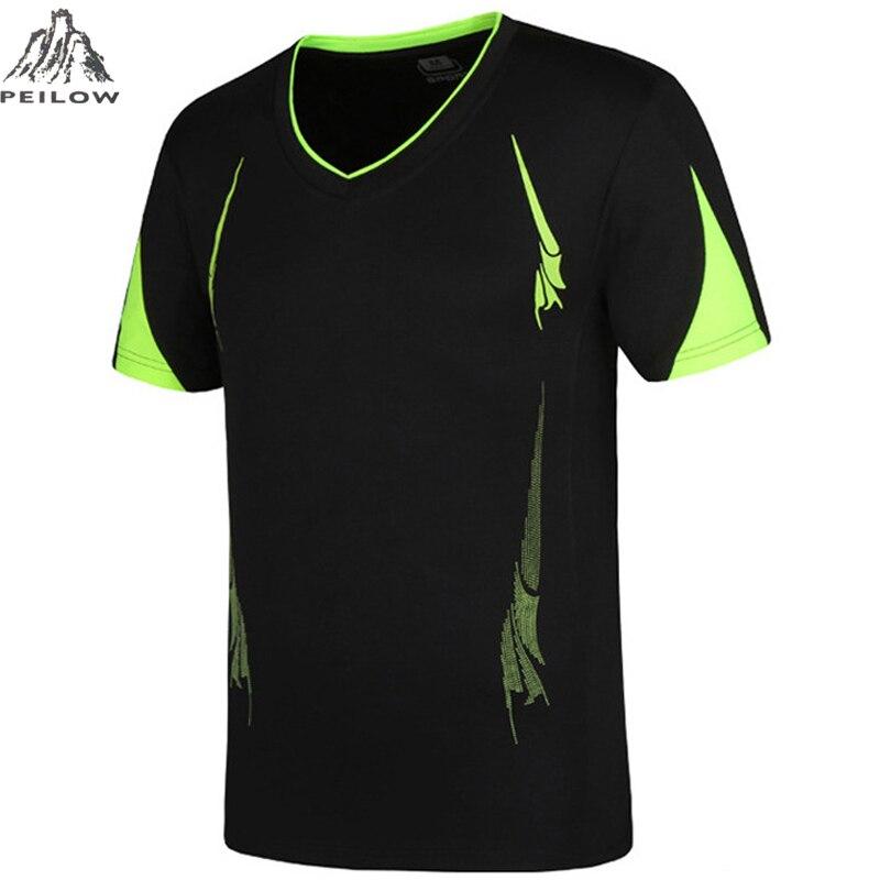 PEILOW big size M~6XL,7XL,8XL,9XL Quick Dry Slim Fit tops&Tees Men Printed   T  -  Shirts   Compression   Shirt   Tops Short Sleeve   T     Shirt