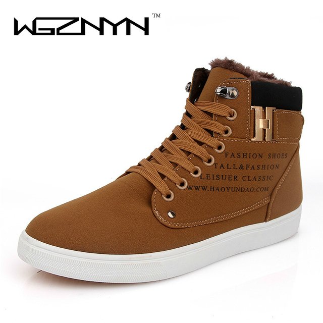 WGZNYN 2017 New Fashion Men Snow Boots Plush Super Warm Suede Leather Boots  Men Boots Work Shoes Outdoor Winter Shoes b420c058e983