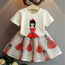 Girls Dresses Summer 2019 T-shirts + Skirts princess toddler dress baby girl clothes kids dresses for girls costume