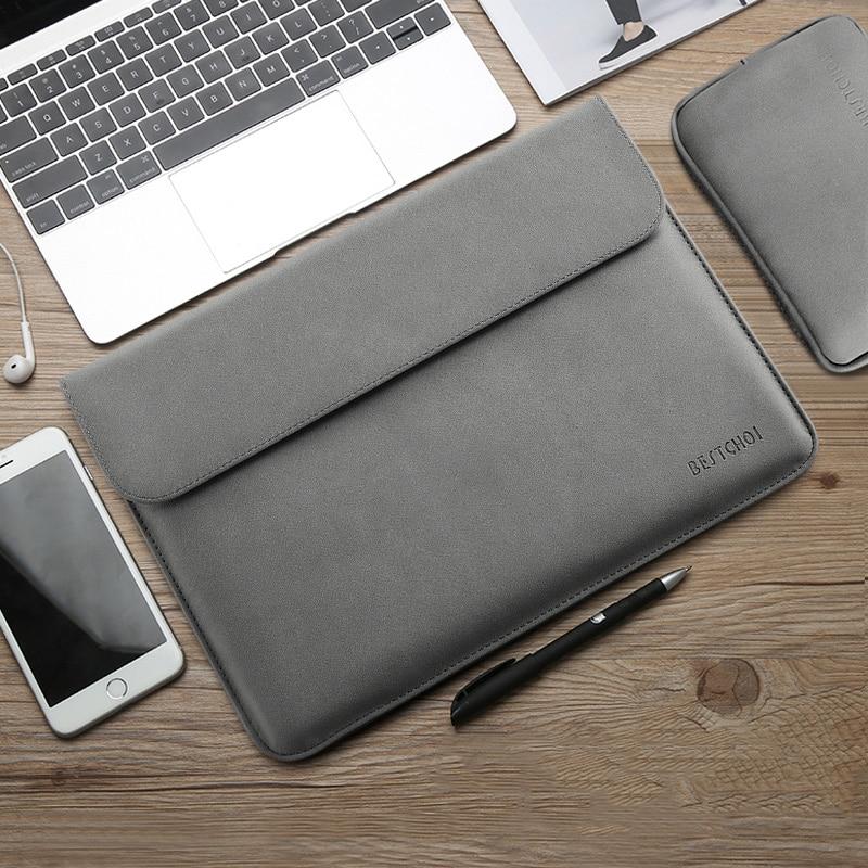 Saco de manga portátil para macbook 13.3 polegada huawei matebook d xiaomi superfície pro 6 bolsa para portátil 12 pro 13 15 polegada mulher dos homens 14 15.4