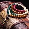 Venta de nuevos productos creativos de la personalidad femenina pulsera bromista de la manera Simple pulsera de madera de sándalo