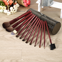 12 PCS Pro Cosmetic Brush Tool Makeup Brushes Kit Set Cup Holder Case Balck Full Application