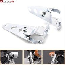 Para apulia mana 850 rsv4 fábrica abs rsv4 fsork cafe racer bobber motocicleta farol preto suporte de montagem cabeça luz 35 43 43mm