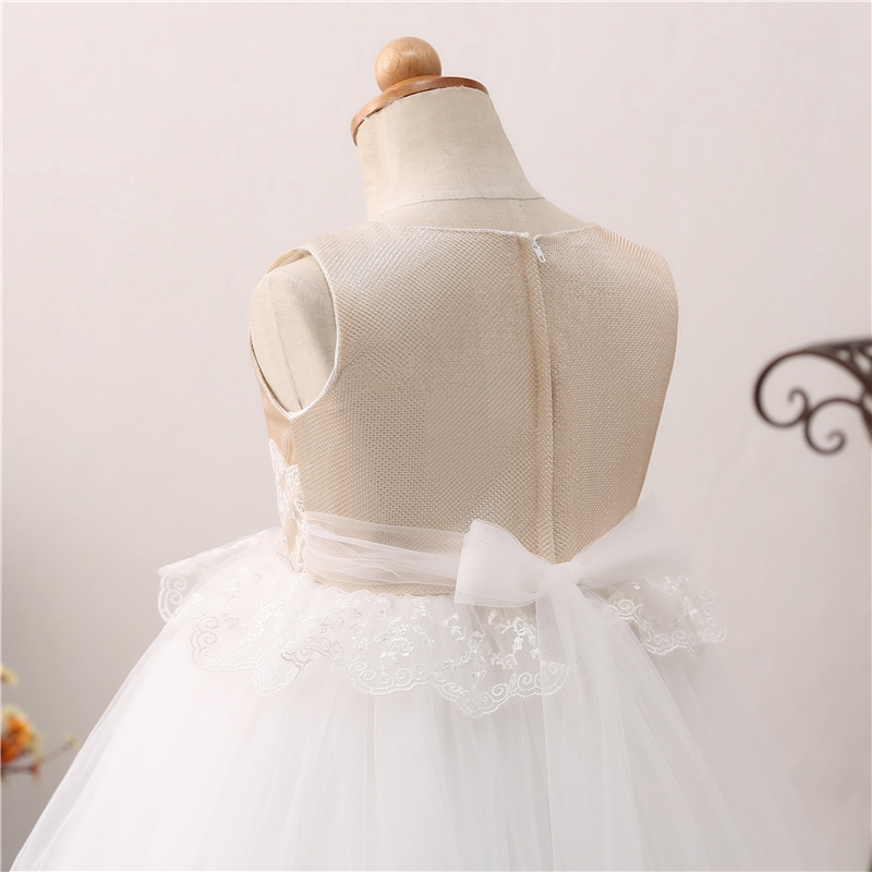 Ball Gown Flower Girls Dresses Girls Wedding Birthday Party First Communion vestido Robe Gowns Fluffy Pageant Formal Dress 2019 in Flower Girl Dresses from Weddings Events